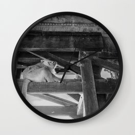 Angkor Wat Long-Tail Macaque (Monkey), Cambodia Wall Clock