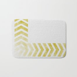 Yellow Chevron  Bath Mat