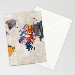 World Map 59 Stationery Cards