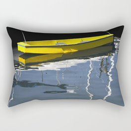 Yellow Boat in Victoria Harbor Rectangular Pillow