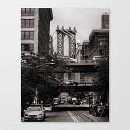 Manhattan Bridge Tower Canvas Print
