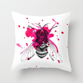 Squashed fly Throw Pillow