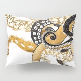 Metallic Octopus Pillow Sham