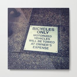 bicycles only Metal Print