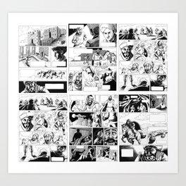 Crusades Comic Art Print