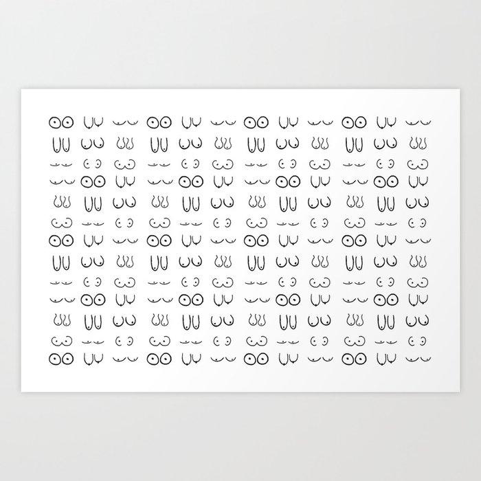 Boobs Art Print