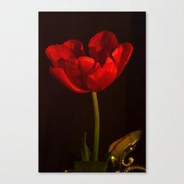 Red Tulip Antique Look Canvas Print
