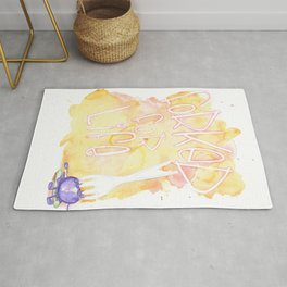Forked for life Rug