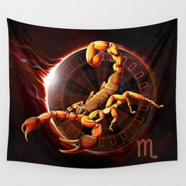 Horoscope Signs-Scorpio Wall Tapestry