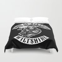 sons of anarchy Duvet Covers featuring Sons of Azkaban by Six Eyed Monster