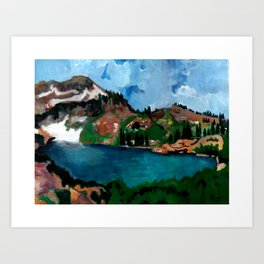 Cecret Lake. Utah. Art Print
