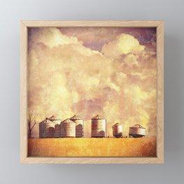 Summer Silos Framed Mini Art Print
