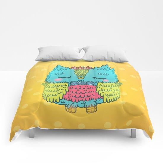 Cute owl Comforters