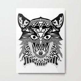 Tenacious Wolf Metal Print