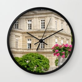 August at Luxembourg Gardens Paris Wall Clock