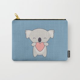 Kawaii Cute Koala With Heart Carry-All Pouch