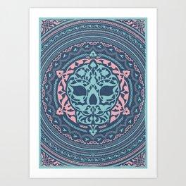 Skull Patterns Art Print