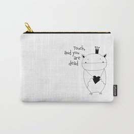 Scandinavian style bat illustration Carry-All Pouch