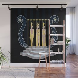 "Art Deco 1920's Illustration ""Lyre"" Wall Mural"