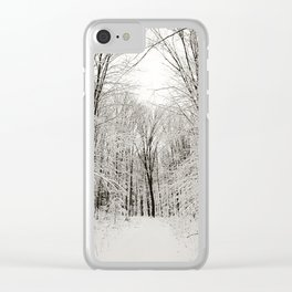 Snow Trail Clear iPhone Case