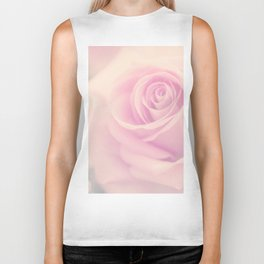 Vintage rose - Beautiful lightpink flower - Roses Biker Tank