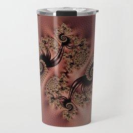 Pink Copper Spiral Travel Mug