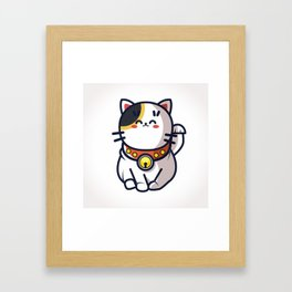 Maneki Neko Framed Art Print