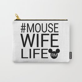 #MOUSEWIFELIFE BLACK Carry-All Pouch