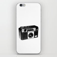 Retro Camera Sketch B/W iPhone & iPod Skin