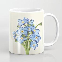 Bouquet of Blossoming Myosotis Flowers Coffee Mug