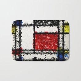 Mondrian with a twist Bath Mat