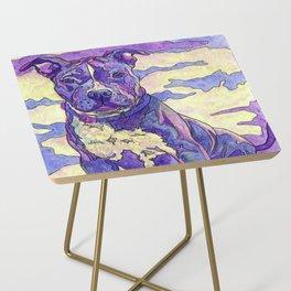 Rainbow Blue Nose Pitbull Side Table