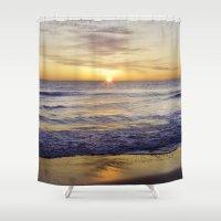 virginia Shower Curtains featuring VIRGINIA BEACH by M.KATZ DESIGNS