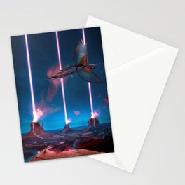 Neon Skies Stationery Cards