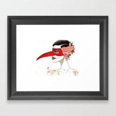 The Masquerade:  The Beak Framed Art Print