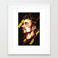 tony stark Framed Art Prints featuring Tony Stark by AlysIndigo