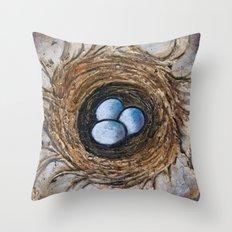 Family Nest Throw Pillow