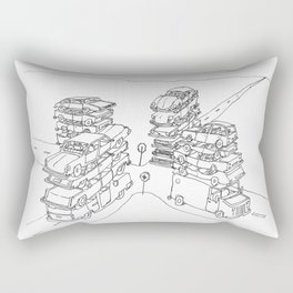 we are at a crossroads Rectangular Pillow