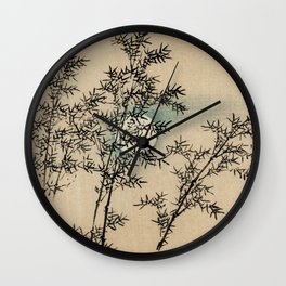Bamboo Branches Traditional Japanese Flora Wall Clock