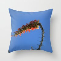 hook Throw Pillows featuring Ocotillo Hook by Mae2Designs