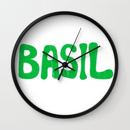 BASIL Wall Clock