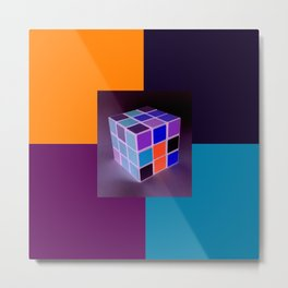 Rubik´s Cube is turning into Dj´s Launchpad Metal Print