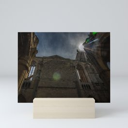 Foreshortening in the medieval town of Narbonne, southern France Mini Art Print