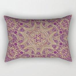 Boho Chic Bordo Rectangular Pillow