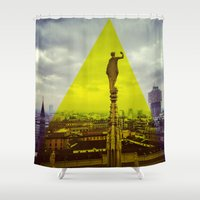 milan Shower Curtains featuring Milan by natsnats