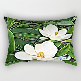 White Flowers of the Purest Essence Rectangular Pillow