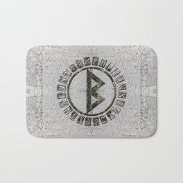 Berkana Rune and Alphabet on Birch Bath Mat