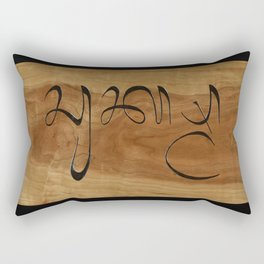 "Balinese ""Thank You"" Rectangular Pillow"
