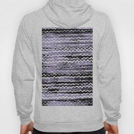 Geometrical lilac black white watercolor brushstrokes Hoody