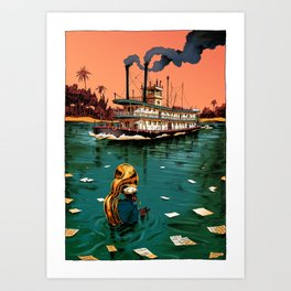 Blowing in the Water Art Print
